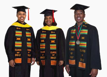 Class of 2017 Kente Stoles - Graduation-Stoles.com