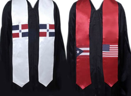 non -personalized Hispanic flag stole